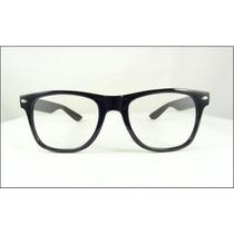 Armação Oculos De Grau Wayfarer Preta Lentes Sem Grau - A441
