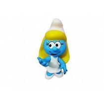 Boneco Brinquedo Smurfete Articulável Em Vinil Macio Smurfs