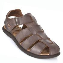 Sandália Masculina Itapuã 15202 N19 Brown Elza Calçados