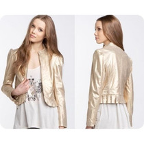 Juicy Couture Jaqueta 100% Couro Dourada