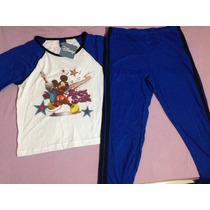 Pijama Infantil Menino Mickey Disney Tamanho 12 Inverno