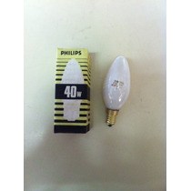 Lamp.vela 40wx115-120v E-14 Leitosa Philips