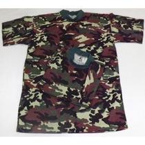 Camiseta Em Malha 100% Algodão,camuflada Exerc Bras -tam Pp