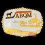Fivela Abqm Apartação C/ Banho Dourado E Prata - Sumetal