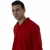 Camisa Pólo Vermelha Manga Longa
