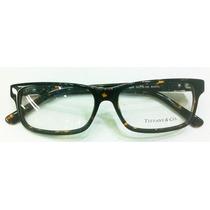 Armação Oculos De Grau Tiffany & Co Acetato Marrom Tortoise