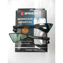 Retrovisor Spencer Tipo Koso Tomok 2 Rizona Preto Par