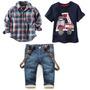 Conjunto Jeans 3 Peças Infantil. Importado Frete Grátis