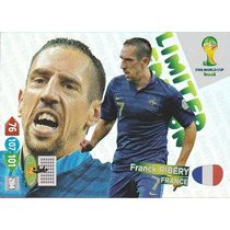 Cards Copa 2014 Adrenalyn Ribery França Limited Edition