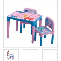 Mesa Com 2 Cadeiras Da Peppa Pig - Multibrink (nota Fiscal)