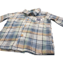 Camisa Infantil Masculina Manga Longa Xadrez Nini & Bambini