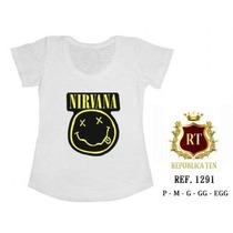 Camisetas Nirvana T-shirts Blusas Femininas - Menor Preço