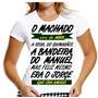 Camisa Baby Look Machado Assis Camiseta Jorge Amado Mulher