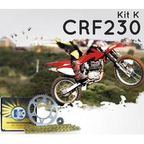 Kit K-kit Transmissao Crf 230-crf230 Corrente Dourada C/ret