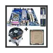 Kit Cpu Core2duo 8400 3ghz + Placa Mãe +cooler +4 Gb Ddr2
