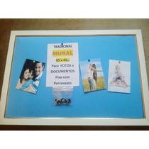 Mural P/ Fotos E Documentos- Pva Azul- 65x45cm