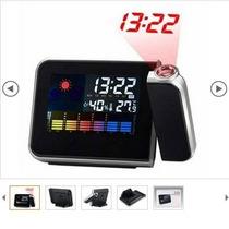 Higrômetro + Termômetro Interno E Externo Digital + Relógio
