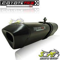 Escape Ponteira Coyote Trs Tri-oval Biz 125 ..10 Preto Black
