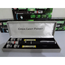 Caneta Laser Pointer Verde 5000mw C/ 5 Ponteiras + Case