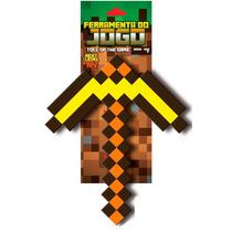 Picareta Minecraft Original Segura Diamante E Ouro - Espada