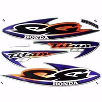 Kit Adesivos Honda Cg Titan 125 Es 2000 Prata