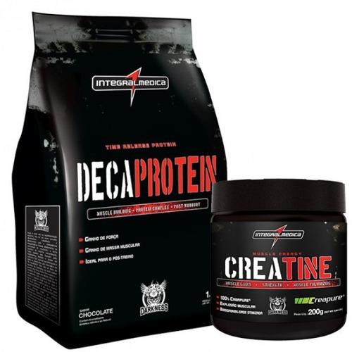 Frete Grátis Deca Protein - Baun + Creatine Creap - Darkness