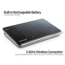 Mini Teclado Elegante S/ Fio Touch C/ Mouse Pad Incrível 2x1