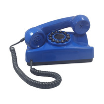 Telefone Antigo Azul Restaurado Tijolinho Retrô Vintage