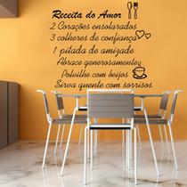 Adesivo Decorativo Parede Cozinha Geladeira Receita Do Amor