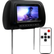 Encosto Cabeça Tela 7 Polegadas Monitor Lcd Controle Remoto