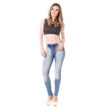 Cigarrete Jegging Up Fit Média Skinny - Estonada E Amaciada