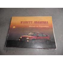 Kadett Ipanema Manual Do Proprietário 1991