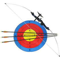 Arco Balanceado Xavante 48 Libras + 3 Flechas + Alvo Nautika