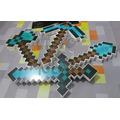Mini Kit Ferramentas Minecraft (espada-picareta-machado-pá)