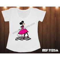 T-shirt Feminina Minnie Hora Chanell Roy-lichtenstein Loira