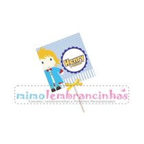 20 Capa Pirulito 5x5cm Personalizado - Tema Pequeno Principe