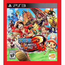 One Piece Unlimited World Red Ps3 - Codigo Psn
