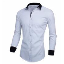 Camisa Social Estilo Executivo Slim Fit