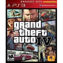 Jogo Novo Gta 4 Grand Theft Auto Iv 4 Ps3 Original