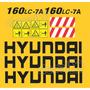 Kit Adesivos Hyundai 160 Lc7a - Decalx