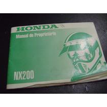 Manual De Instrução Nx 200 Original Honda