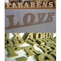 Letras Mdf Crú Nomes, Textos, Decoração, Festa, Aniversário