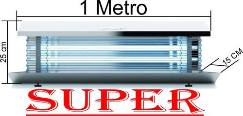 Super 1 Metro- Armadilha Lâmpada Mata Mosca E Mosquito - Sgs