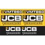 Kit Adesivos Jcb Vmt 860 - Decalx