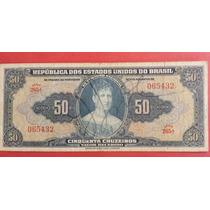 C024: Bela Cédula 50 Cruzeiros 1942 Autografada - Linda !!!