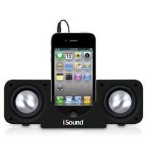 Caixa De Som 2x1 Base Para Smartphones Iphone/ Ipod Isound