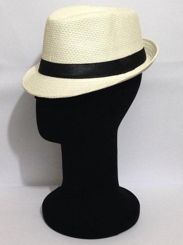 Chapéu Modelo Panamá Estilo Fedora Aba Curta - R  29 en Melinterest 54396e30999