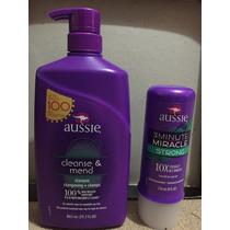 Kit Aussie Shampoo 865ml E Creme Tratamento 3 Minutos Strong