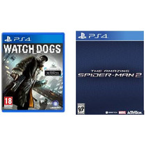 Watch Dogs Ps4 + The Amazing Spider Man + Bônus Pré Primária