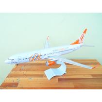 Avião Boeing 737-800w Gol 28cm Miniatura Maquete